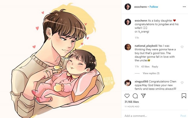 Exo S Chen Welcomed A Baby Girl Who Is His Wife More Details About His Married Life With A Non Celebrity Girlfriend