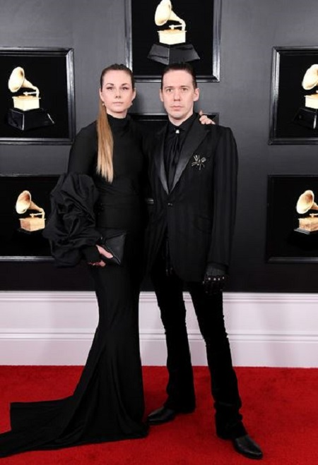 Tobias Forge with cool, Wife Boel Forge