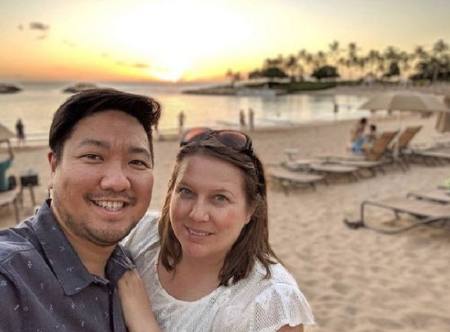 Roy Choi with friendly, Wife Caroline Shin-Manguera